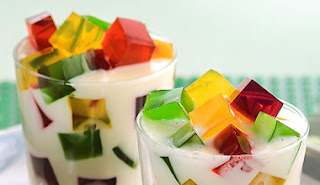 mosaico de gelatina