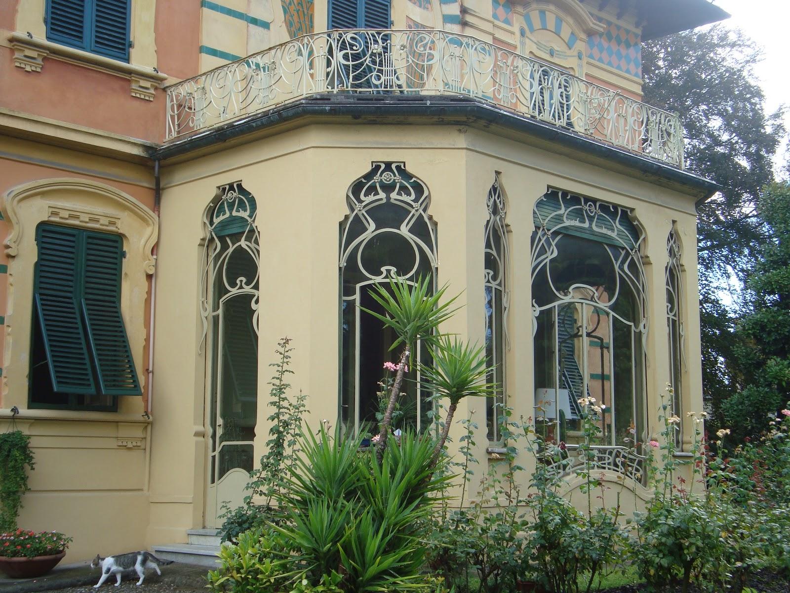 Paseos art nouveau villa ducloz n 234 via matteo for Art nouveau fenetre
