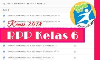 RPP Kelas 6 Kurikulum 2013 Revisi 2018 Semester 2 Tema Menjelajah Angkasa Luar