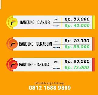 Harga Tiket BAndung Sukabumi