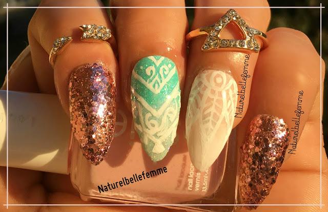 sparkle classy manicure