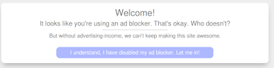 how to stop adblock from website