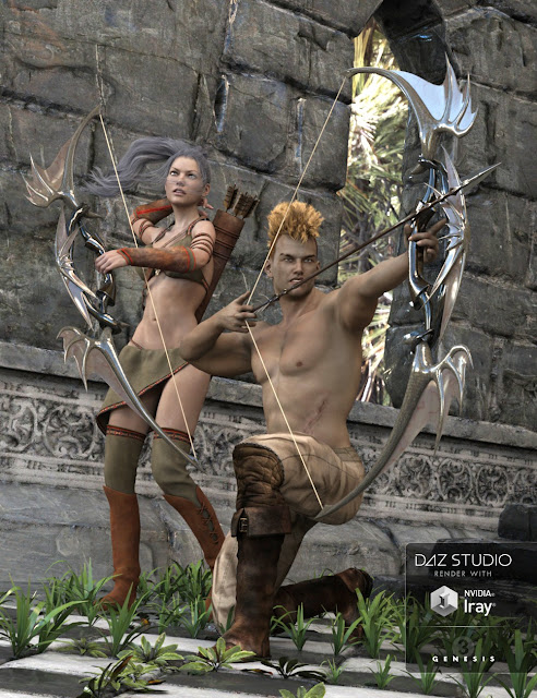 Archery 2 Poses for Genesis 3 Male - Female