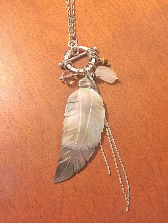ten thousand villages shell feather necklace