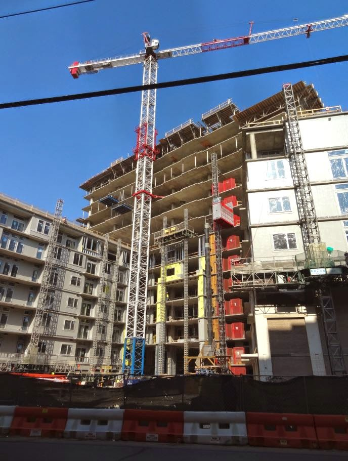 Photo of multifamily residential construction underway