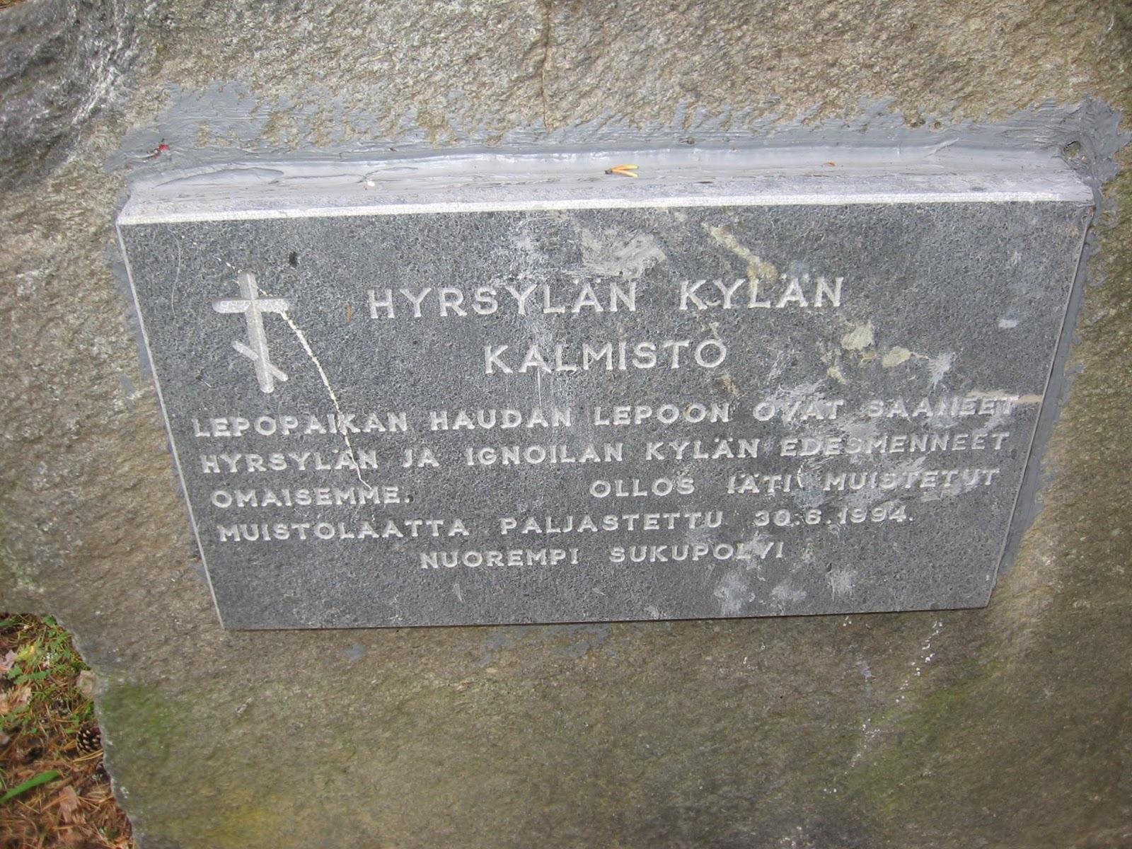 Willimiehen Jaljilla Suojarvi Hyrsylan Ortodoksinen Kalmisto
