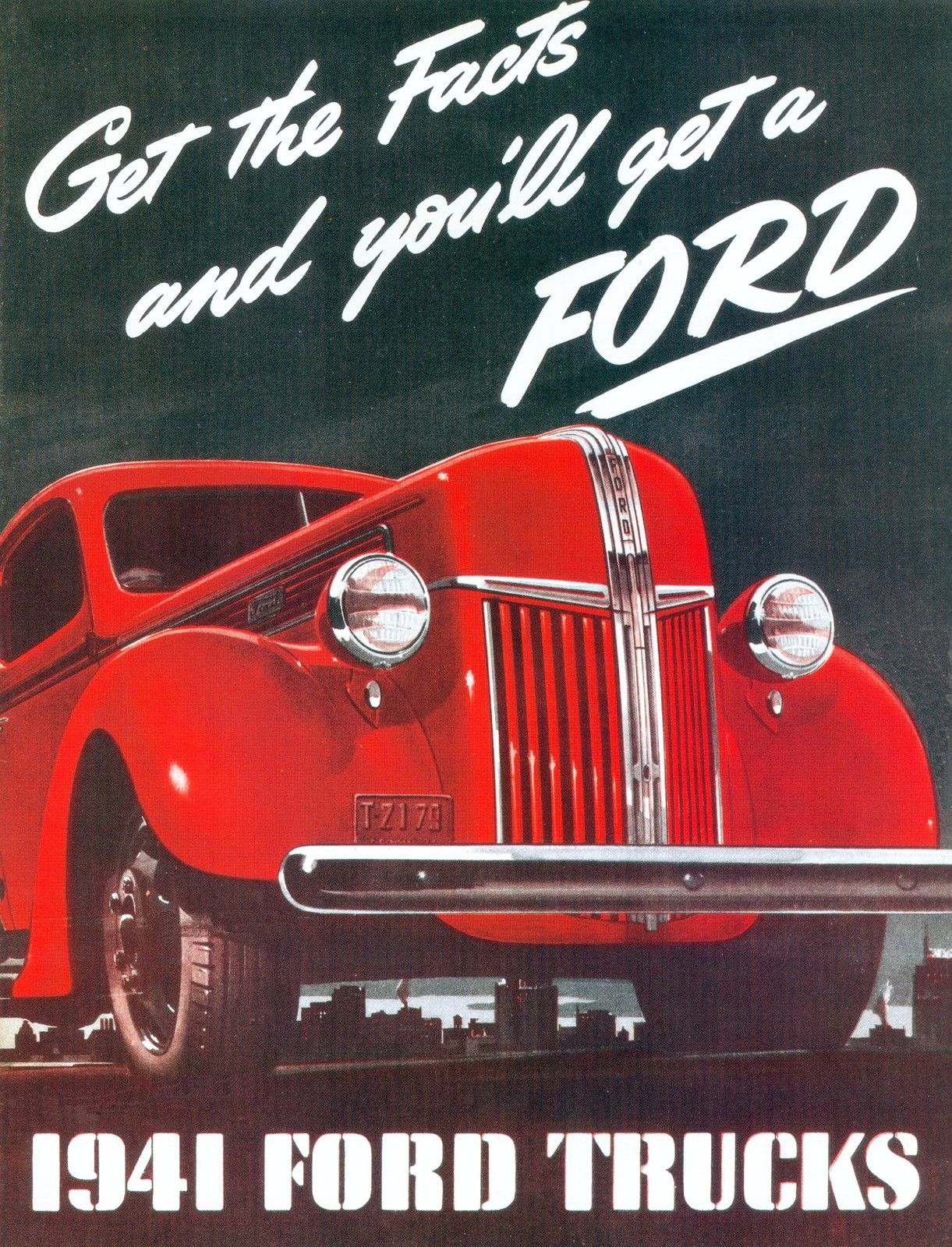 Transpress Nz 1941 Ford Trucks Ad Coupe Red