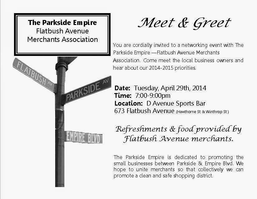 the Q at Parkside April 2014 - business meet and greet invitation wording
