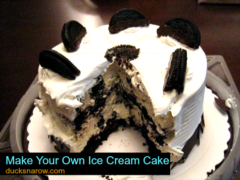 how to make a simple ice cream cake at home