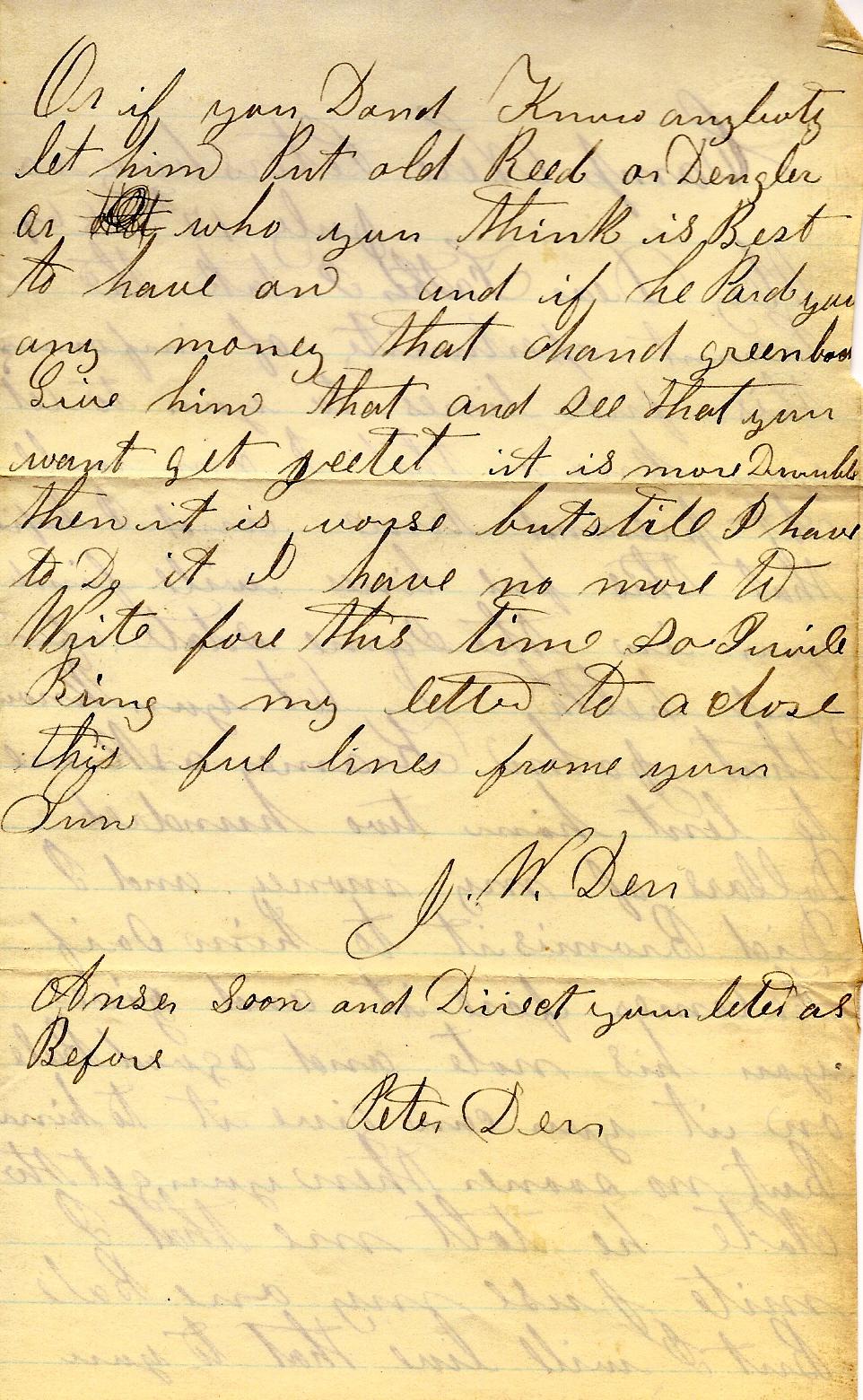 Civil War Letters of John W  Derr: June 2013