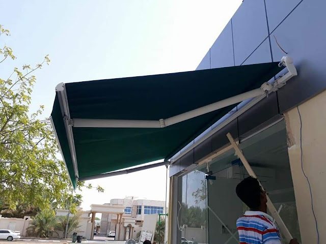 Fixed Awnings+ Commercial Awnigns + Canopy Awnings + Retractble Awnings + Foldable Awnings Suppliers in Dubai + Sharjah + Ajman + UAE.
