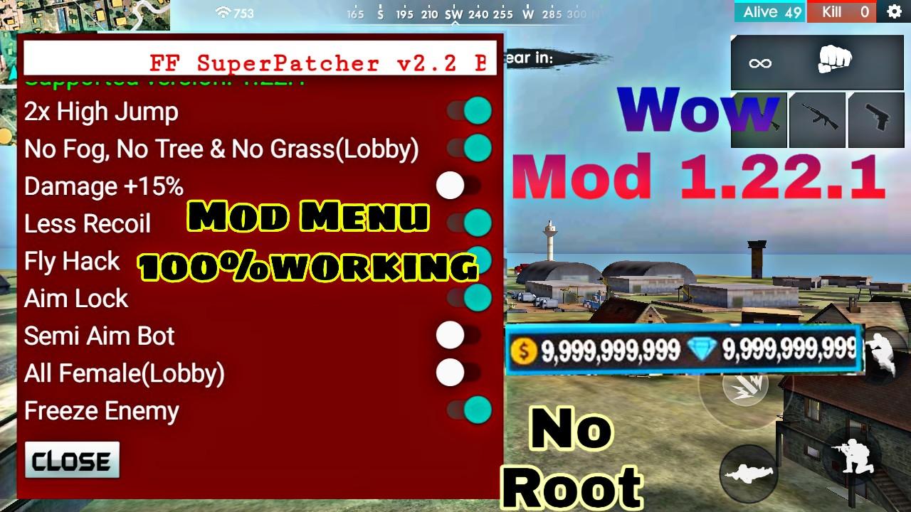 Free fire 1 22 1 mod menu