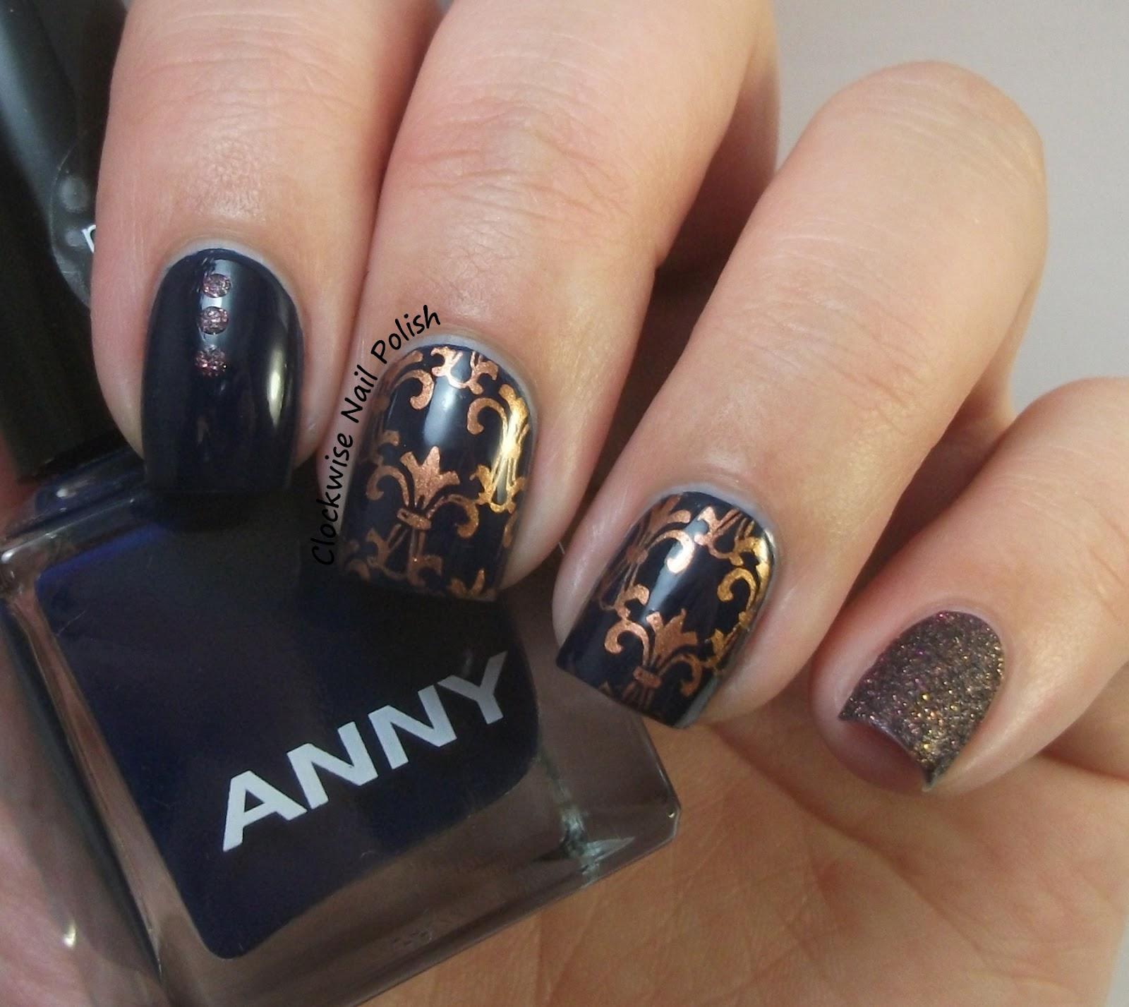 Nail Art Midnight Blue: The Clockwise Nail Polish: Anny Midnight Blue & Fleur De
