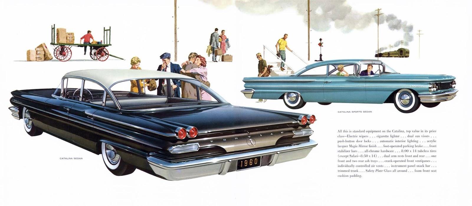 Transpress Nz 1960 Pontiac Promo Art Catalina 2 Door