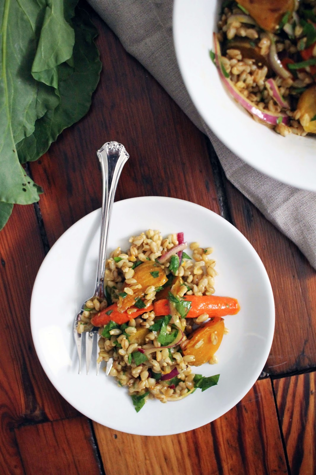 Roasted Beet & Barley Salad with Orange
