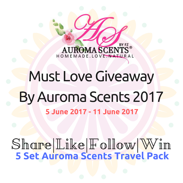 MUST LOVE GIVEAWAY BY AUROMA SCENTS