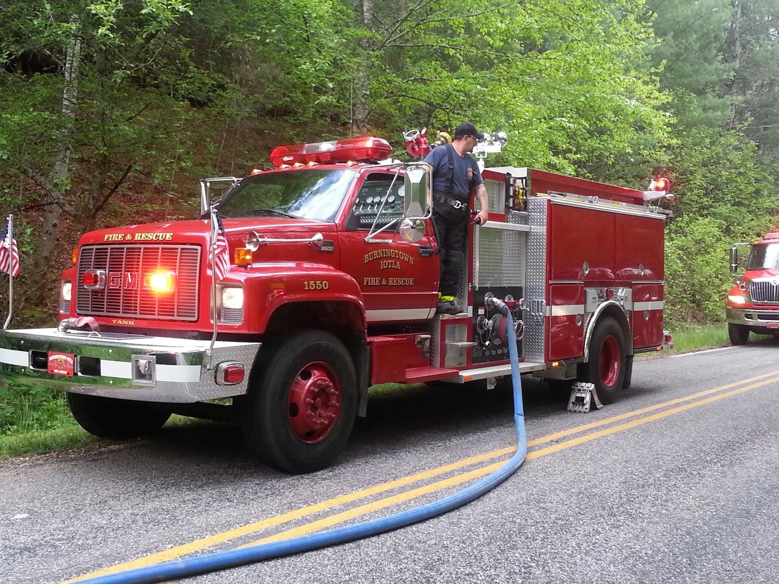 A truck from Burningtown Fire Department