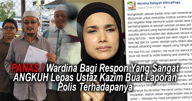 PANAS ! Wardina Bagi Respon Yg Sangat ANGKUH Lepas Ustaz Kazim Buat Laporan Polis Terhadapanya