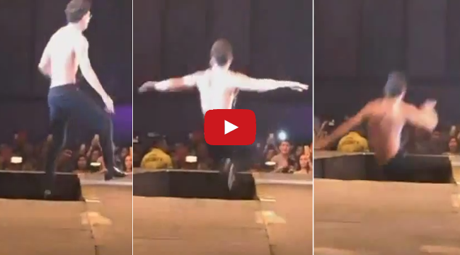 Watch James Reid Falls Off Stage at Cosmo Bachelor Bash 2014 on Viral Video