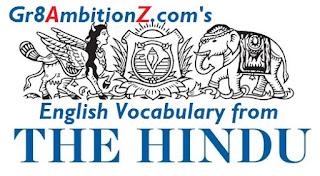 Hindu News Paper Editorial Vocabulary