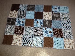 Sew God S Grace Rag Quilt Baby Blanket Isaiah S Memory
