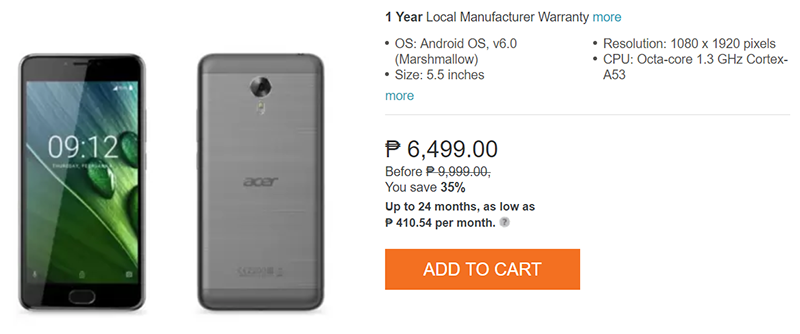 Sale Alert: Acer Liquid Z6 Plus Is Priced At PHP 6499!