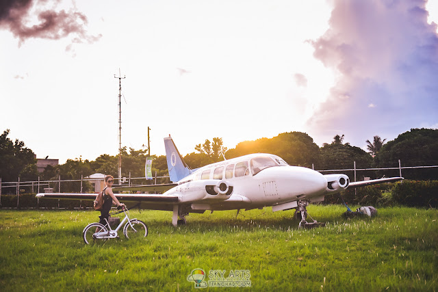 CYCLING AT BATANES BASCO AIRPORT WITH BEAUTIFUL SUNSET