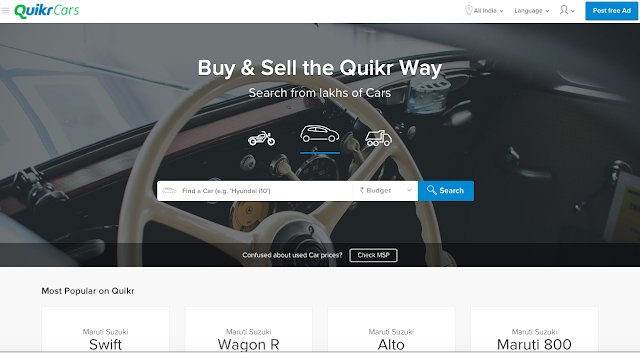 Quikr, India's front running cross category online classifieds business, launches QuikrCars, a vertical focusing on automobiles
