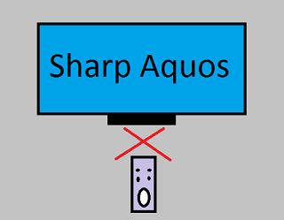 LED TV Sharp aquos remot tidak berfungsi