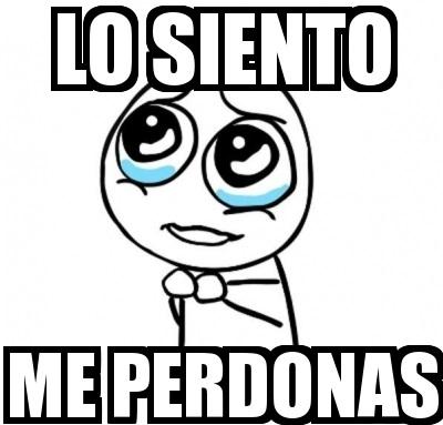 im sorry in spanish language