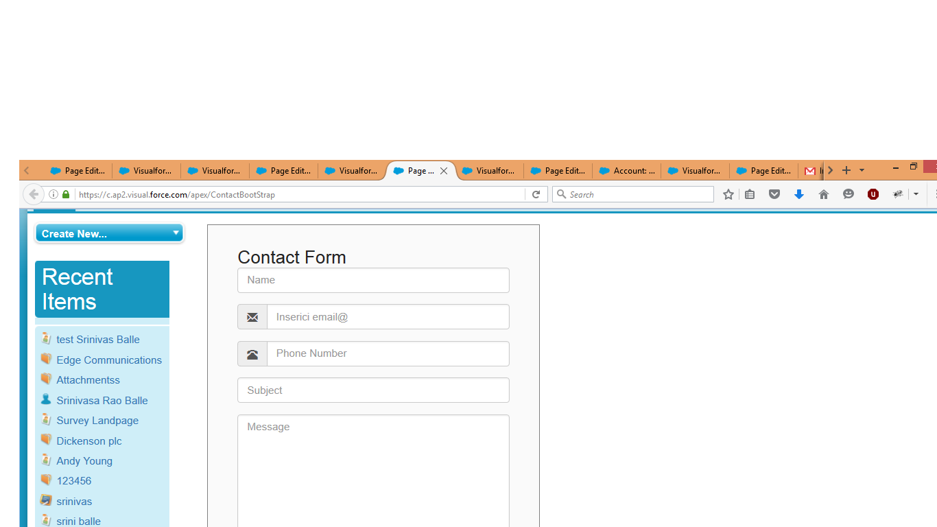 Bootstrap examples in visualforce page salesforce tutorials example 2 falaconquin