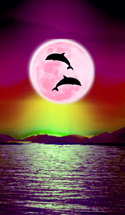 Lucky Strawberry Moon double dolphins 5