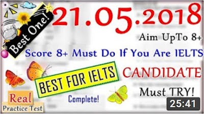 IELTS LISTENING PRACTICE TEST 2018 WITH ANSWERS | 21.05.2018