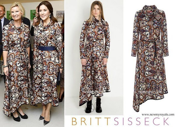 Princess Mary wore Britt Sisseck print dress