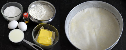 ingredients for vanilla cake