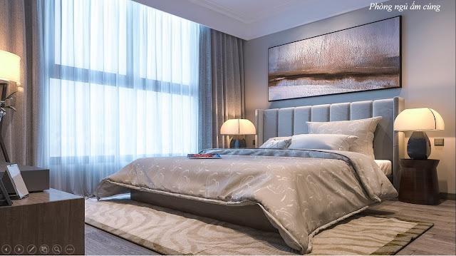 Phòng ngủ chung cư Thạch Bàn Lakeside