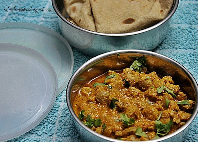 Soya Nuggets Curry with Chapati