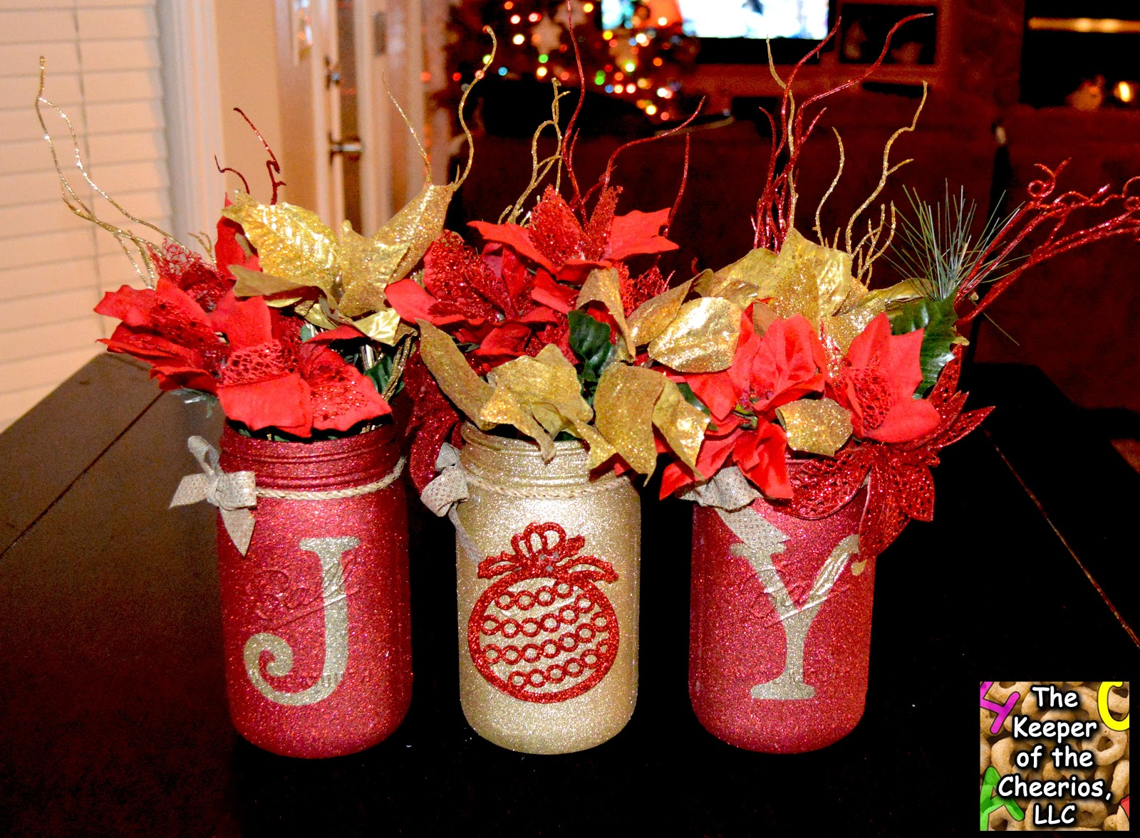 over 35 christmas mason jar ideas idees and solutions. Black Bedroom Furniture Sets. Home Design Ideas