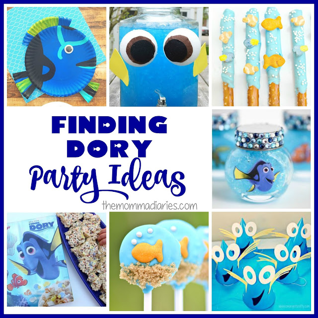 Finding Dory Party Ideas, finding dory snacks, Finding Dory Crafts, Finding Dory Party