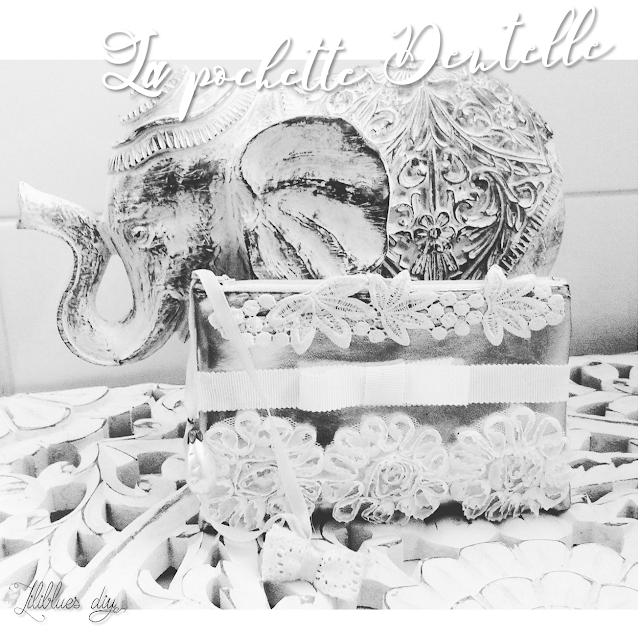 DIY- Pochette- dentelle- lace clutch bag - bag