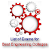 Engineering Entrance Exam 2016 List for the Best Engineering Colleges