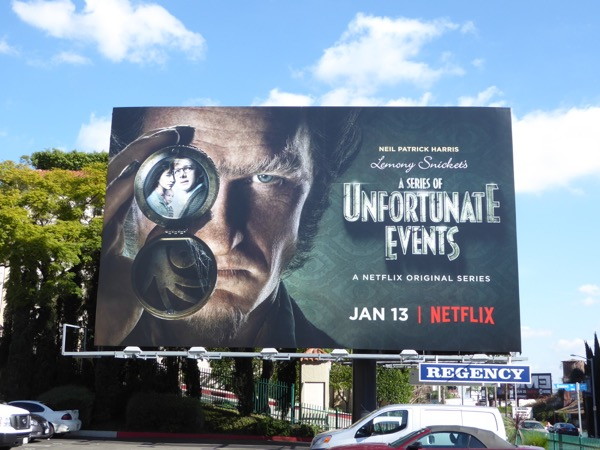 Lemony Snickets Series of Unfortunate Events series premiere billboard