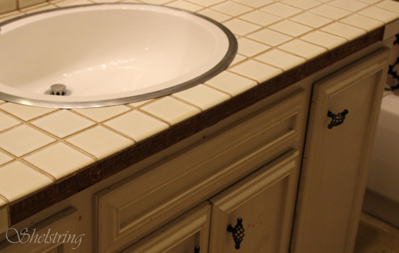 Shelstring Blog Bathroom Tile Fix Howto - Fix bathroom tile