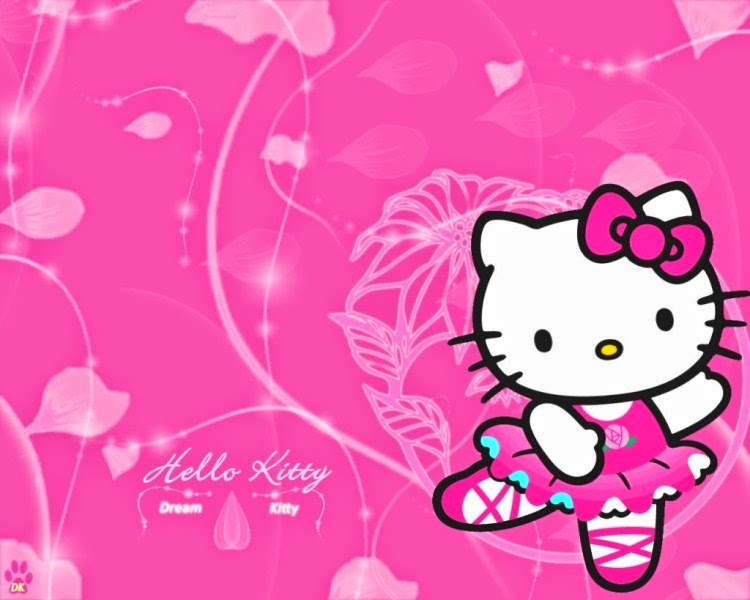 Gambar wallpaper hello kitty pink cute banget