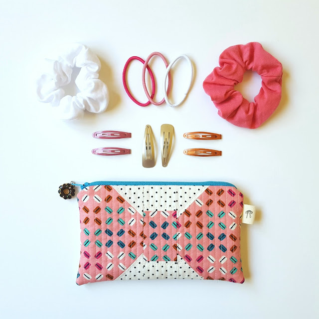 Fat Quarter Baby Hair Bow Pouch by Heidi Staples for Fabric Mutt
