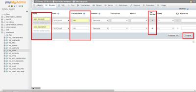 step 3 edit database
