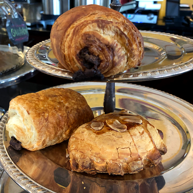 Fresh baked, home made croissants at Cafe Aroma in Winnetka, Illinois.