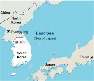 Τα γυμνάσια θα διεξαχθούν στα ανοικτά των ακτών της Νότιας Κορέας και της Ιαπωνίας