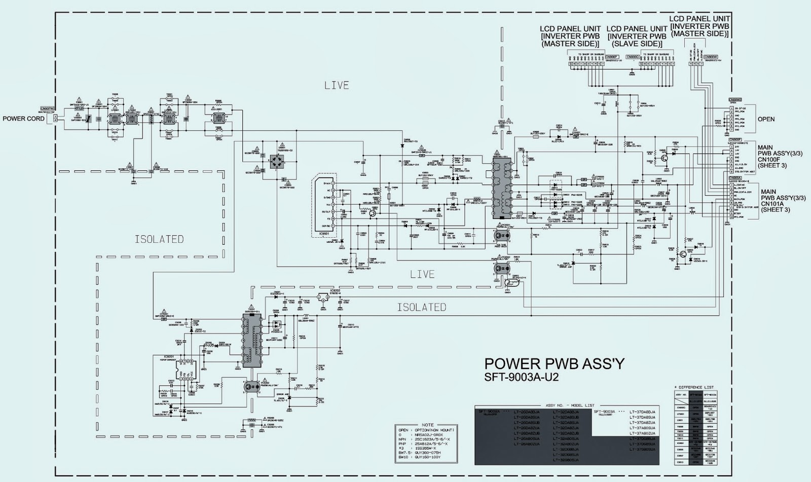 JVC LT-37A80SU, LT-37A80ZU - Power Supply (SMPS) - Circuit Diagram - LCD  INTEGRATED DIGITAL TELEVISION