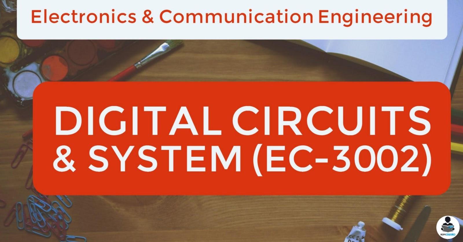 EC3002 - Digital circuits & system - RGPV notes CBGS